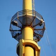 Malowanie komina przemysłowego