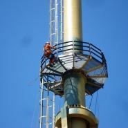 Malowanie hydrodynamiczne komina