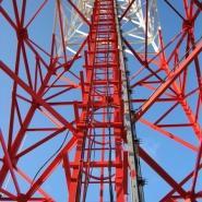 Malowanie przeszkodowe wieży h=106m, antykorozja