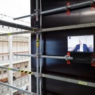 montaż instalacji audiowizualnej na wysokości