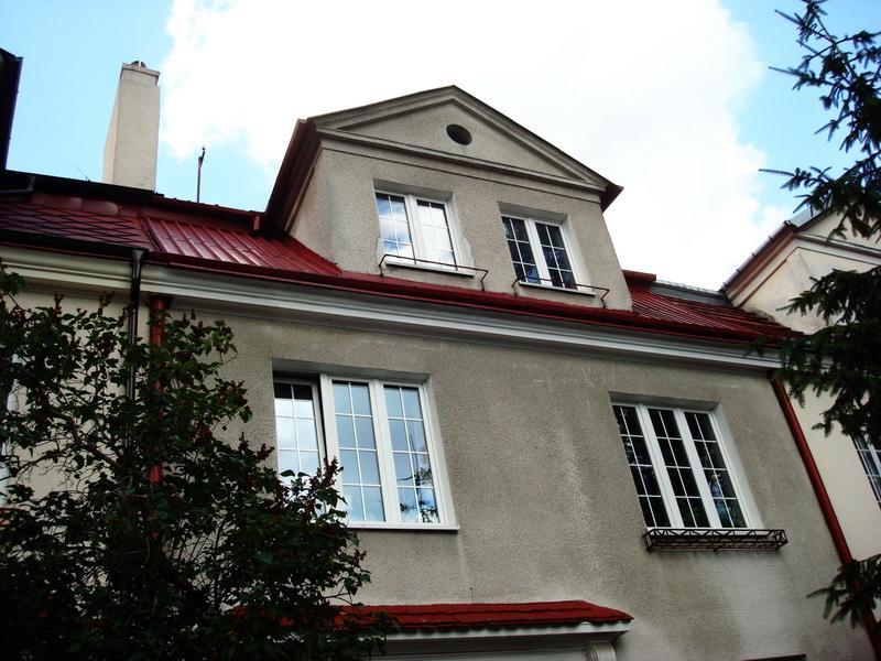 Dach po pomalowaniu